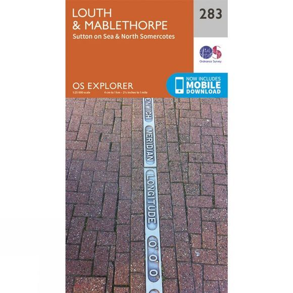 Explorer Map 283 Louth and Mablethorpe