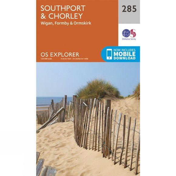 Ordnance Survey Explorer Map 285 Southport and Chorley V15