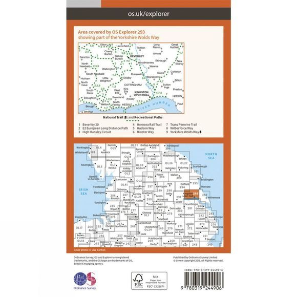 Explorer Map 293 Kingston upon Hull and Beverley