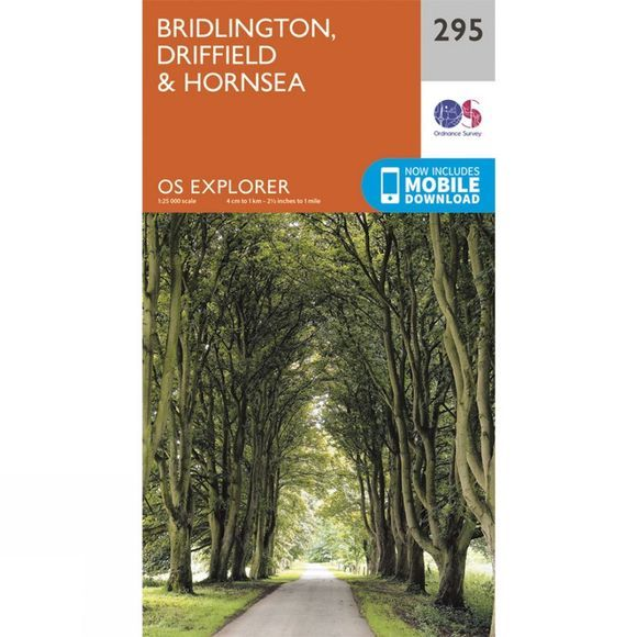Explorer Map 295 Bridlington, Driffield and Hornsea