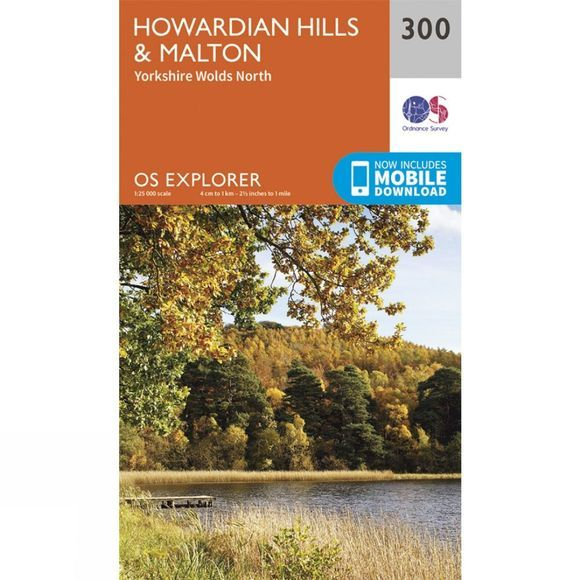 Ordnance Survey Explorer Map 300 Howardian Hills and Malton V15