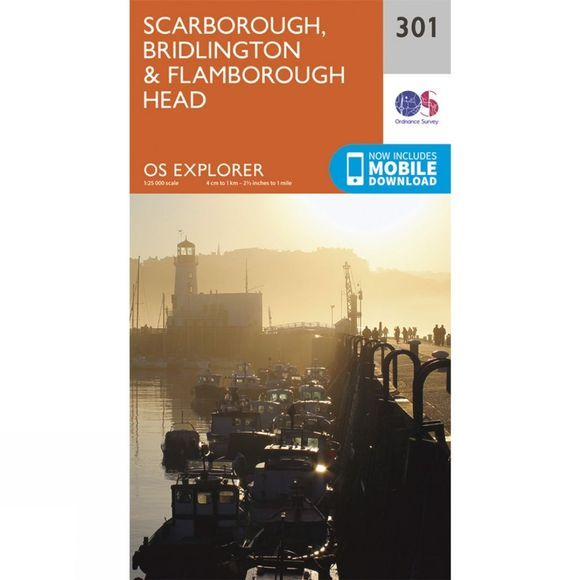 Ordnance Survey Explorer Map 301 Scarborough, Bridlington and Flamborough Head V15