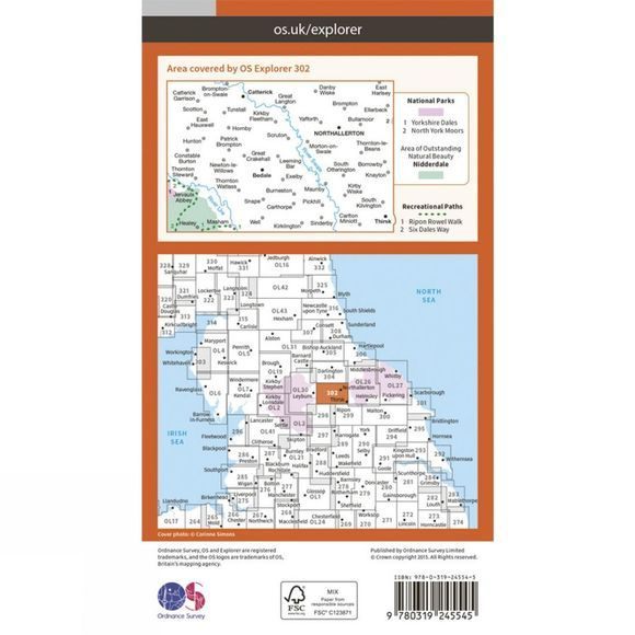 Ordnance Survey Explorer Map 302  Northallerton and Thirsk V15