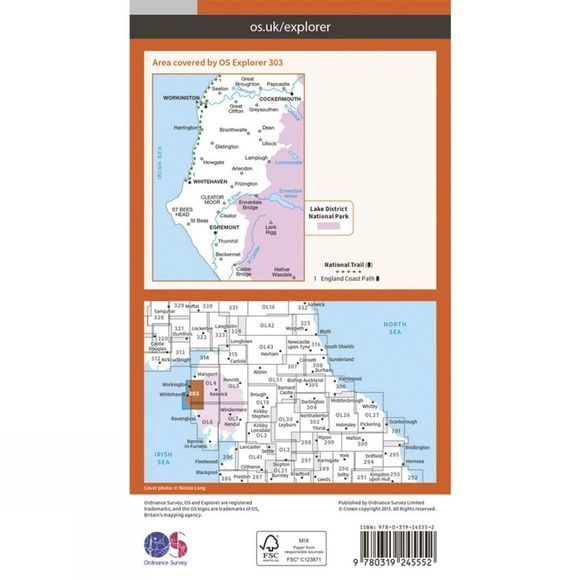 Explorer Map 303 Whitehaven and Workington
