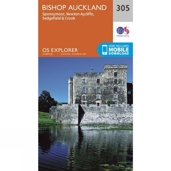 Explorer Map 305 Bishop Auckland