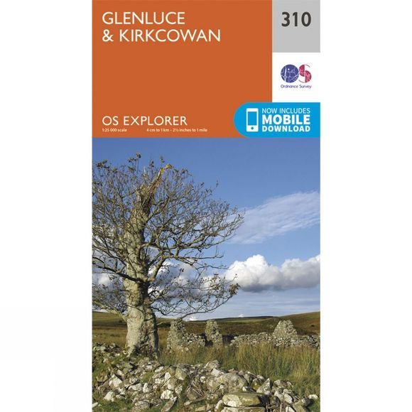Ordnance Survey Explorer Map 310 Glenluce and Kirkcowan V15