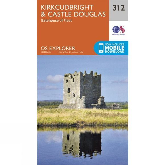 Explorer Map 312 Kirkcudbright and Castle Douglas