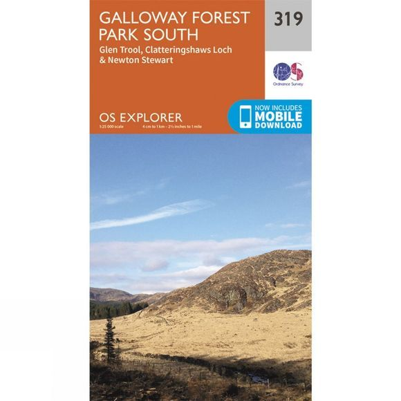 Ordnance Survey Explorer Map 319 Galloway Forest Park South V15