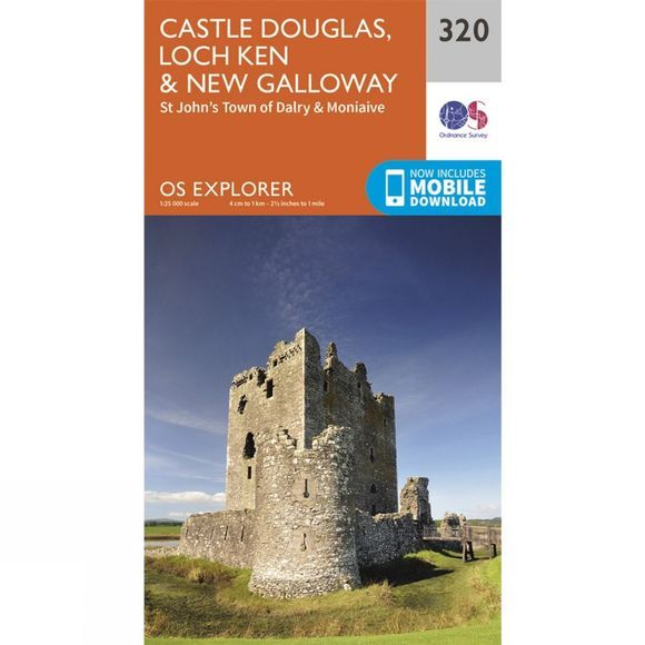 Ordnance Survey Explorer Map 320 Castle Douglas, Loch Ken and New Galloway V15