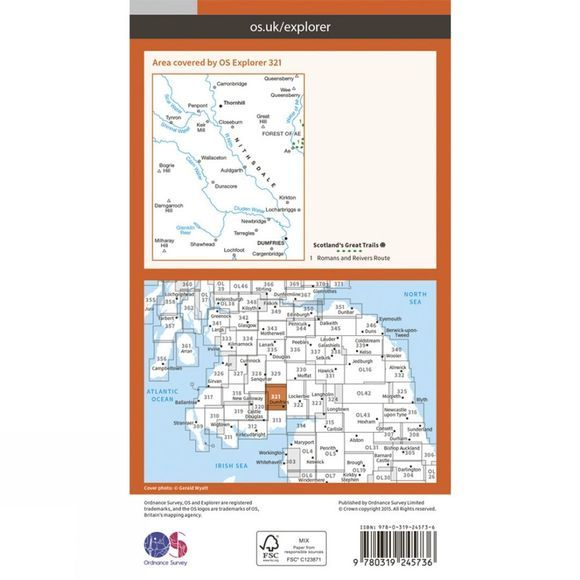 Ordnance Survey Explorer Map 321 Nithsdale and Dumfries V15