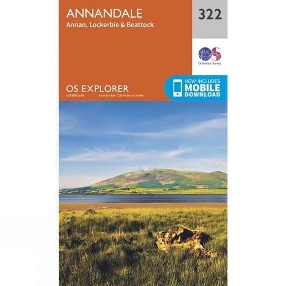 Ordnance Survey Explorer Map 322 Annandale V15