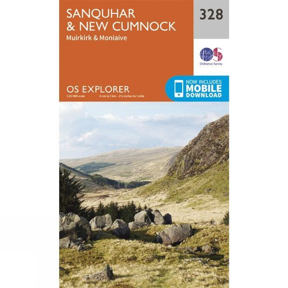 Explorer Map 328 Sanquhar and New Cumnock
