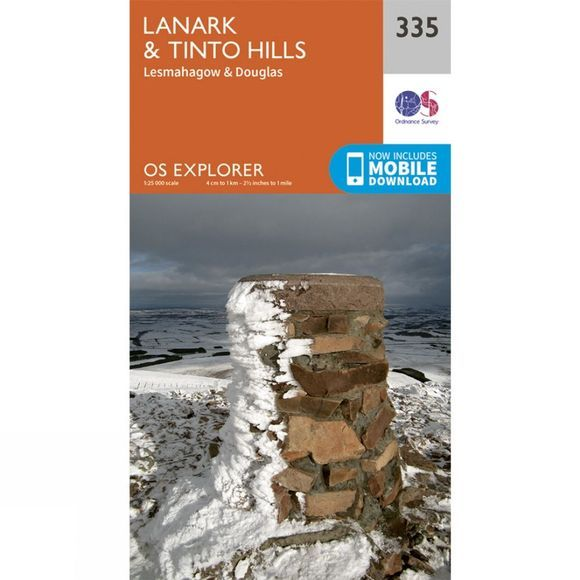 Ordnance Survey Explorer Map 335 Lanark and Tinto Hills V15
