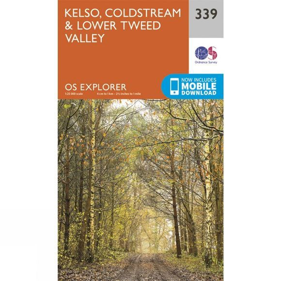 Ordnance Survey Explorer Map 339 Kelso, Coldstream and Lower Tweed Valley V15