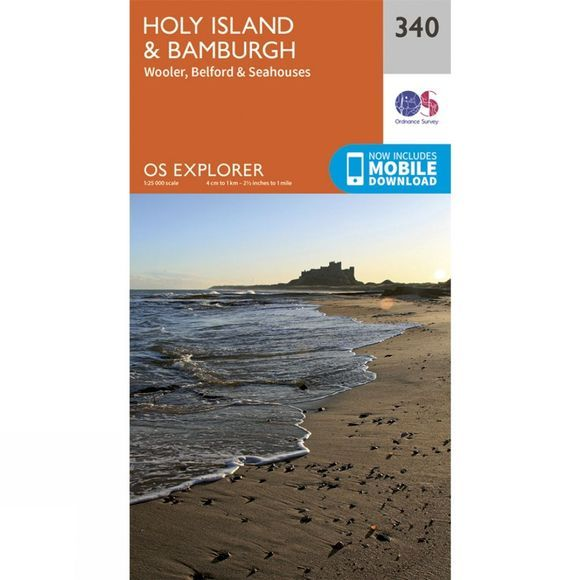 Explorer Map 340 Holy Island and Bamburgh
