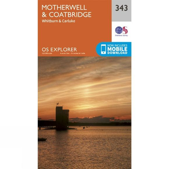 Explorer Map 343 Motherwell and Coatbridge
