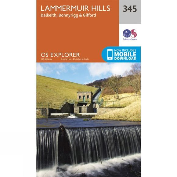 Ordnance Survey Explorer Map 345 Lammermuir Hills V15
