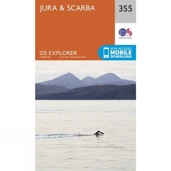 Ordnance Survey Explorer Map 355 Jura and Scarba V15