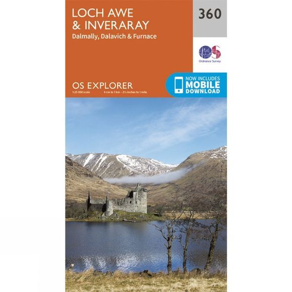 Explorer Map 360 Loch Awe and Inveraray
