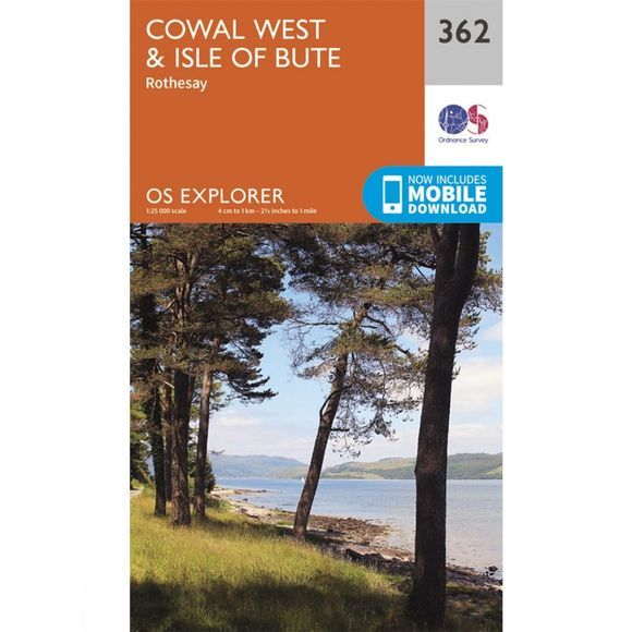 Explorer Map 362 Cowal West and Isle of Bute