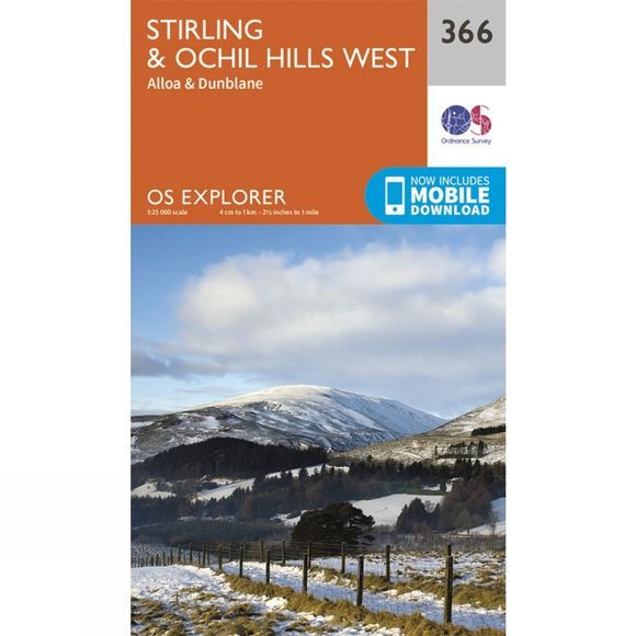 Explorer Map 366 Stirling and Ochil Hills West