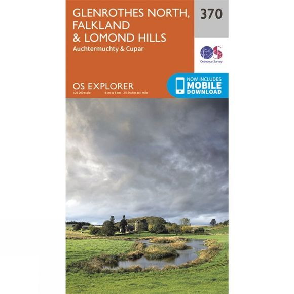 Ordnance Survey Explorer Map 370 Glenrothes North, Falkland and Lomond Hills V15