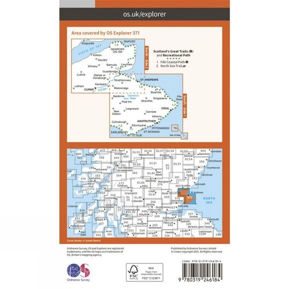 Explorer Map 371 St Andrews and East Fife
