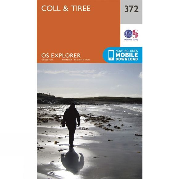 Ordnance Survey Explorer Map 372 Coll and Tiree V15