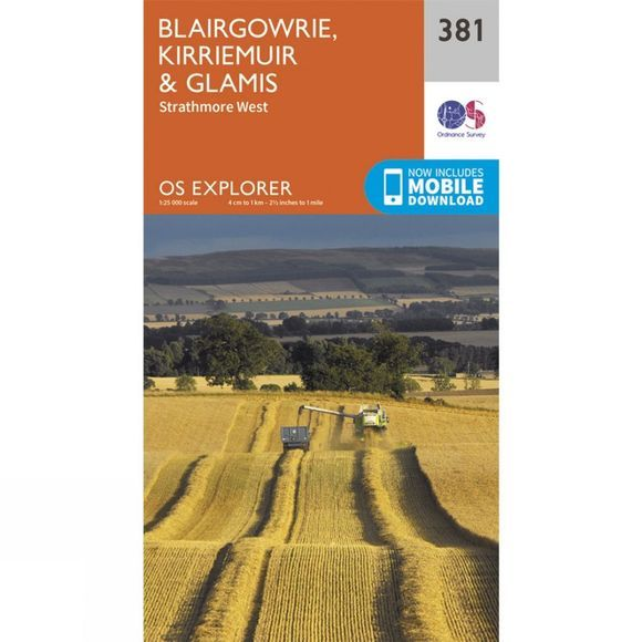 Ordnance Survey Explorer Map 381 Blairgowrie, Kirriemuir and Glamis V15