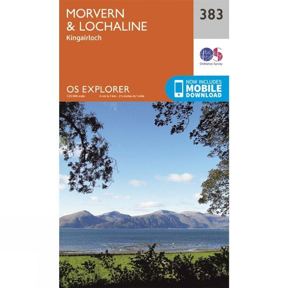 Ordnance Survey Explorer Map 383 Morvern and Lochaline V15