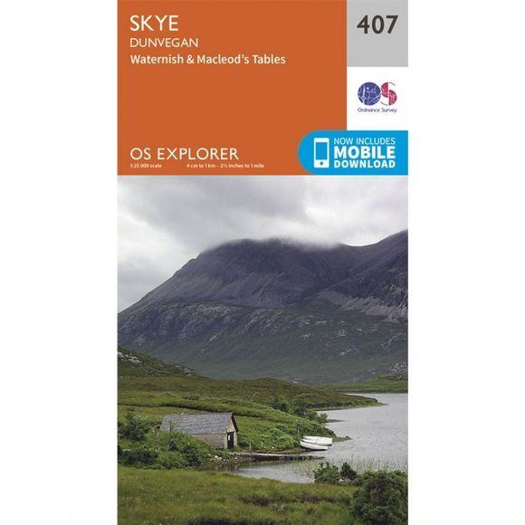 Ordnance Survey Explorer Map 407 Skye - Dunvegan V15