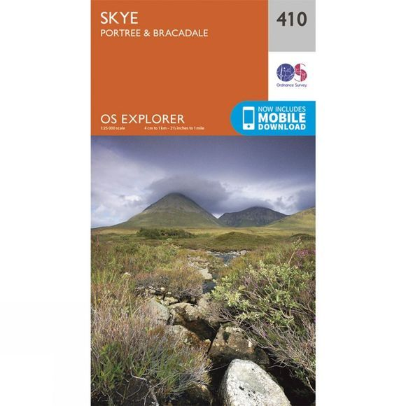 Ordnance Survey Explorer Map 410 Skye, Portree and Bracadale V15