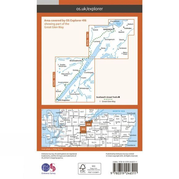 Ordnance Survey Explorer Map 416 Inverness, Loch Ness and Culloden V15