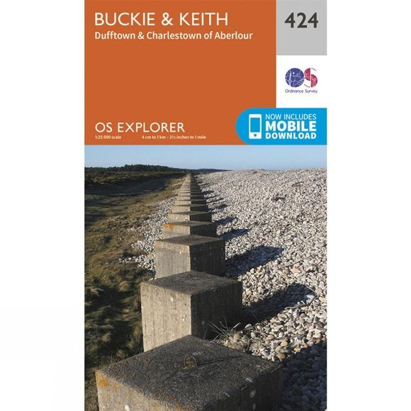 Explorer Map 424 Buckie and Keith