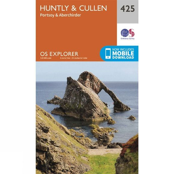 Ordnance Survey Explorer Map 425 Huntly and Cullen V15