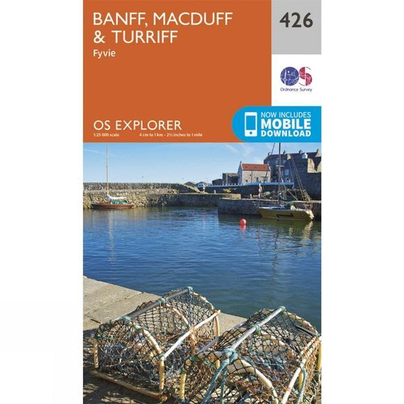 Ordnance Survey Explorer Map 426 Banff, Macduff and Turriff V15