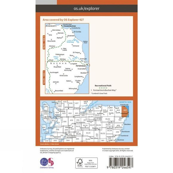 Ordnance Survey Explorer Map 427 Peterhead and Fraserburgh V15