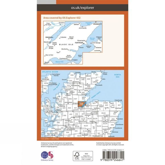 Explorer Map 432 Black Isle