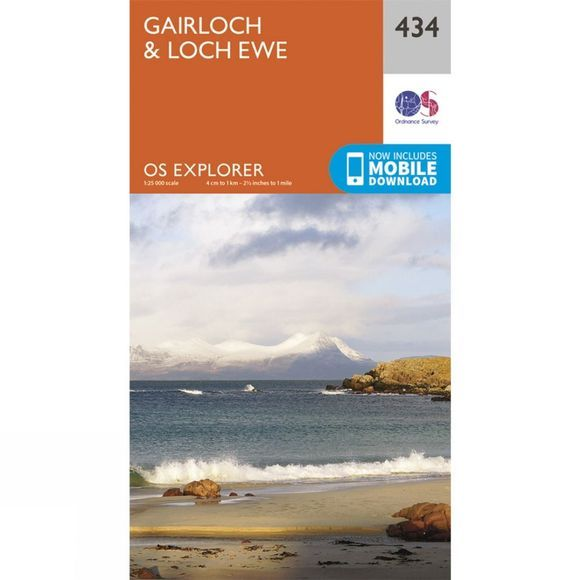 Ordnance Survey Explorer Map 434 Gairloch and Loch Ewe V15