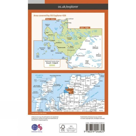 Ordnance Survey Explorer Map 439 Coigach and Summer Isles V15