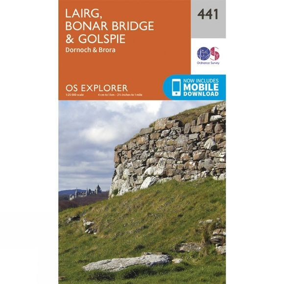 Ordnance Survey Explorer Map 441 Lairg, Bonar Bridge and Golspie V15