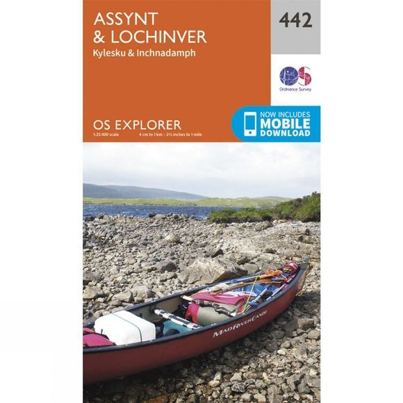 Ordnance Survey Explorer Map 442 Assynt and Lochinver V15