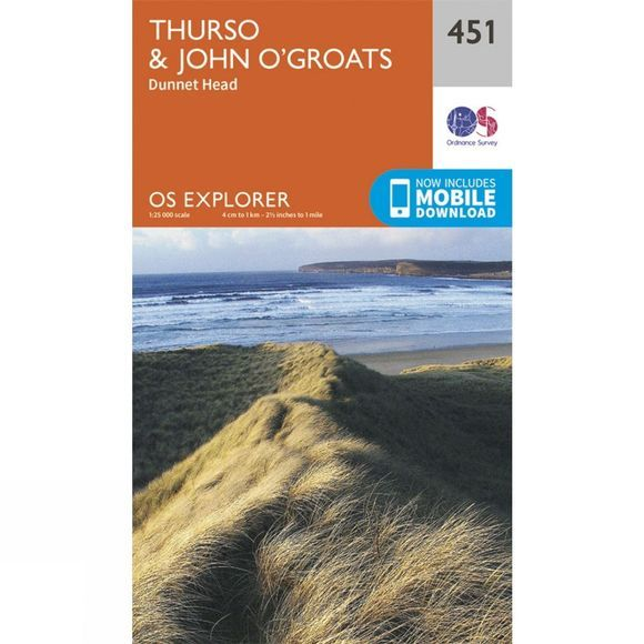 Ordnance Survey Explorer Maps 451 Thurso and John o' Groats V15
