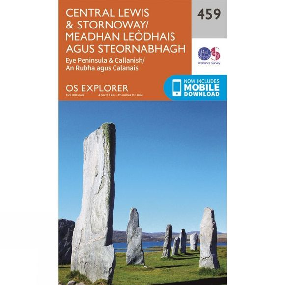 Explorer Map 459 Central Lewis and Stornoway