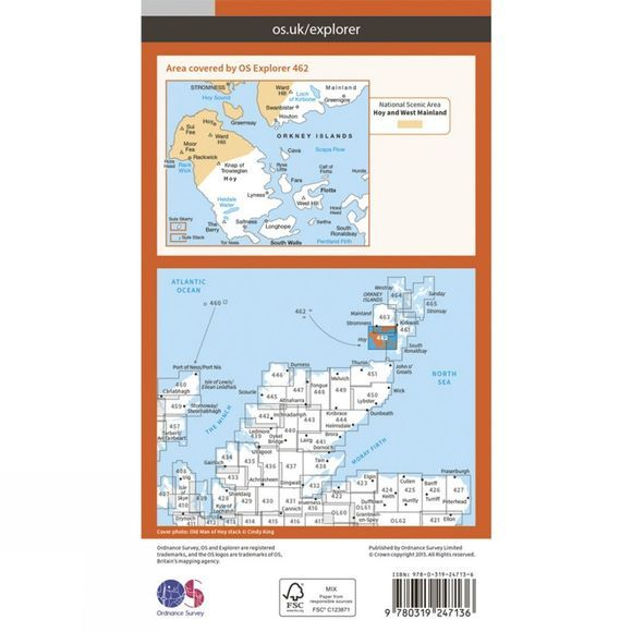 Explorer Map 462 Orkney - Hoy, South Walls and Flotta