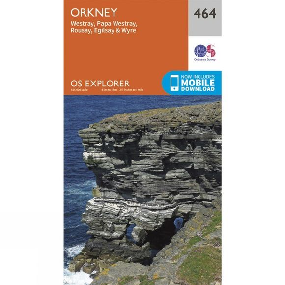 Ordnance Survey Explorer Map 464 Orkney - Westray, Papa Westray, Rousay, Egilsay and Wyre V15