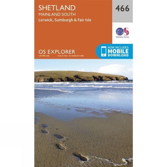 Ordnance Survey Explorer Map 466 Shetland - Mainland South V15