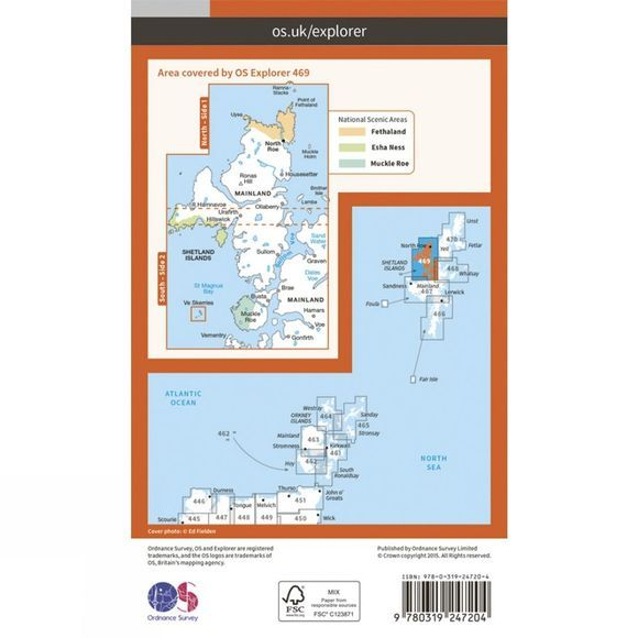 Ordnance Survey Explorer Map 469 Shetland - Mainland North West V15