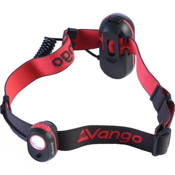 Vango Flux Headtorch Carbide Grey / Chilli Red