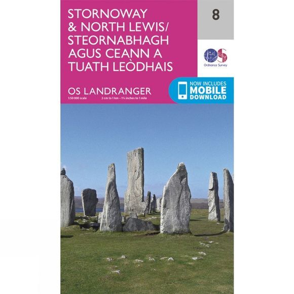 Landranger Map 08 Stornoway and North Lewis